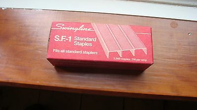 NOS Vintage Box of Swingline SF-1 Staples 5000