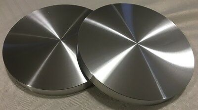 "Aluminum Round Disc 5"" Dia. Bar Circle Plate (2 Pcs) 3/8"" Thick*flat! *nice! Usa"
