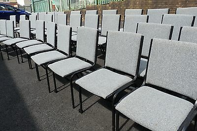 Stacking Chairs (Used) metal frame, linking 100+ number, sold as one job lot