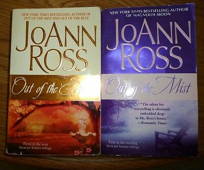 2 books by JoAnn Ross-Steward Sisters - Out of Storm-Out of Mist