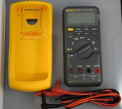 Fluke 87V Industrial True RMS Multimeter With Leads and Temp Wire