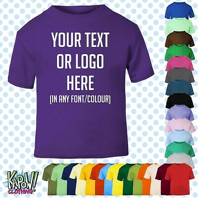 Custom Personalised Baby/Kids/Childrens T-SHIRT Name Funny Gift-Your text/logo 5