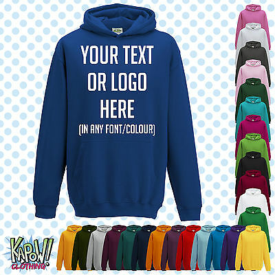 Custom Personalised Baby/Kids/Childrens HOODIE Name Funny Gift- Your text/logo 3