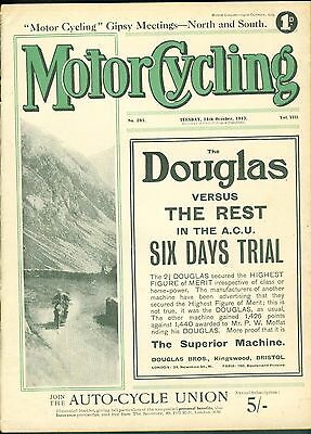 Motor Cycling Magazine 1913 Levis  for 1914 James 1914 Single & Twin  Precision
