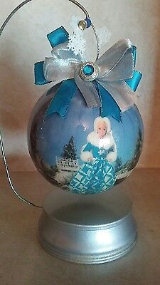 Barbie  Holiday Christmas Hanging Ornament With Hanging Stand