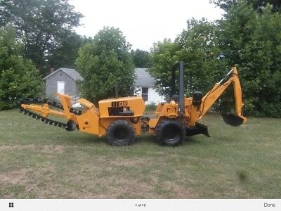 Case Dh-4 Trencher With Back Hoe Attachment 4X4