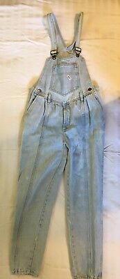 Vintage Guess Georges Marciano Light Blue Jean Overalls Vintage Youth Size 14