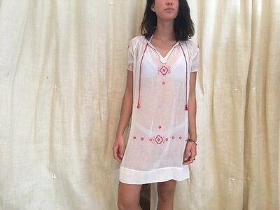 Antique Hand Embroidered Folk Romanian Dress