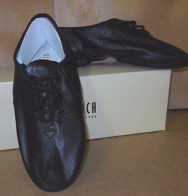BLOCH Soft Leather Splitsole Jazz Shoes Black Girls Dance S0405G - New in Box