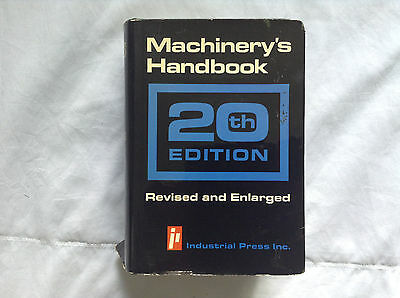 Machinery's Handbook 20th Edition Machinist Manual Revised and Enlarged - Good