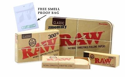 RAW 300's 1 1/4 Size Classic Rolling Papers + TIN + Hydrostone+Tip W FREE GIFT