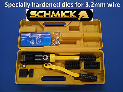 HEAVY DUTY HYDRAULIC SWAGER SWAGING TOOL for STAINLESS WIRE CRIMPING TURNBUCKLES