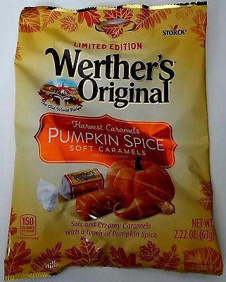 NEW Worther's Original Pumpkin Spice Soft Caramels Candy FREE WORLDWIDE SHIPPING