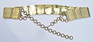 Vintage 70's Gold Metal Chain Belt Size M