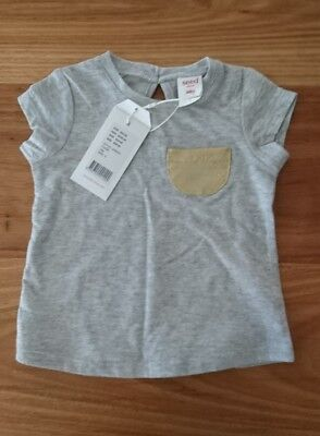 seed size 0 6-12m girls baby grey top BNWT