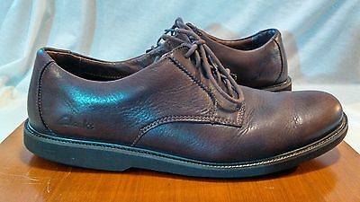 Clark's 82218 mens US size 11M brown leather casual shoes