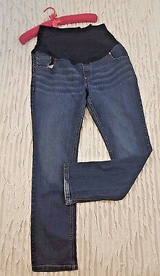 Great Expectations Maternity Denim Jeans Size L 12/14 Inseam 31 Full Panel