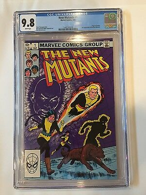 The New Mutants 1 (Mar 1983, Marvel) CGC 9.8 White Pages