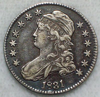 1831 BUST Half Dollar SILVER O-108 *RARE* XF Detailing Nice Color Authentic .50