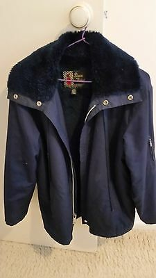 Vintage 1970s Simon Kessel Styled Navy  Winter Jacket Size 95  fit 95 Chest