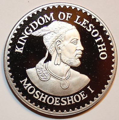 1984 LESOTHO 10 MALOTI - VERY RARE Proof Cameo Crown African Coin - Lot #ML3