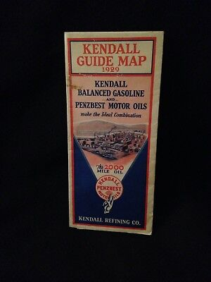 1929 Kendall Oil New York / PA / Eastern States Road Map