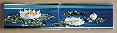 Germany - 2 Antique Art Nouveau Majolica Border Tile C1900