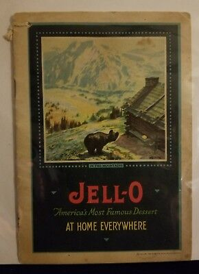 """Jell-O """"At Home Everywhere"""" 1922 Vintage Recipe Booklet"""