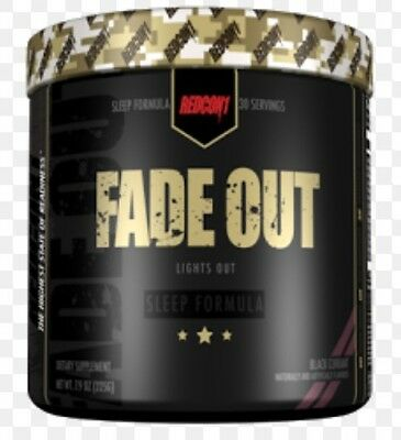 Redcon1 Fade Out Sleep Formula 30 Serve Free Samples Black Currant
