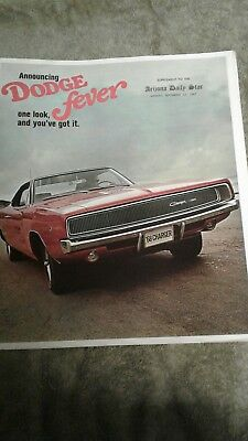vintage Dodge Charger advertisement 1968 muscle car