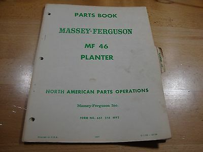 Mf 39 Planter Parts Book Manual Catalog From Massey Ferguson Tractor