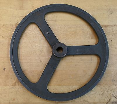 """Welch Cast Iron 10""""  10-Inch  V-Belt Pulley  No. 2041"""