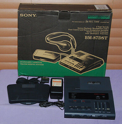 Sony BM-87DST Dictator Transcriber With Pedal & Adapter - Great Condition