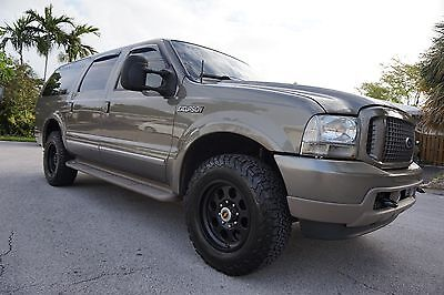 2002 Ford Excursion LIMITED 4x4 2002 Ford Excursion 7.3L Diesel 4x4 Limited!! CLEAN LOW MILES 142k Beige / Tan !