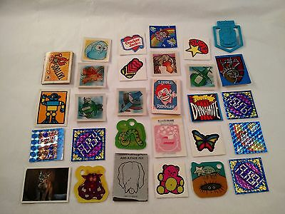 Lot of 29 Vintage Cracker Jack Premiums Prizes Flickers, Stickers, Tag Alongs