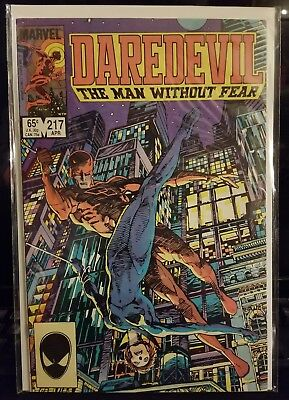 Daredevil #217 Marvel Comic Book (bagged & boarded) Black Widow