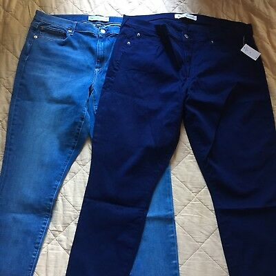 Lot Of 2 NWT Gap 1969 Womens True Skinny Ankle Jeans Size 35