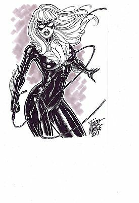 BLACK CAT 9 X 12 Commission Artist JOSEPH MACKIE