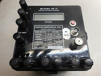 Radian Research Metronic RM-10 Portable Watthour Standard  10 post