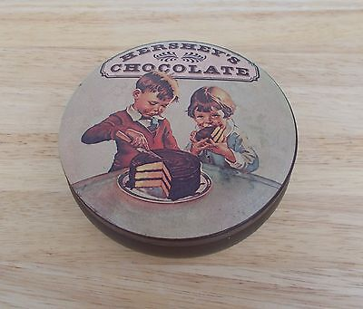 """Vintage Hershey's Chocolate 1982 5"""" Tin ~~  Very Collectible"""