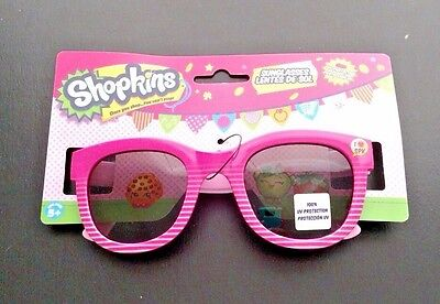 Shopkins Pink Stripe Kids Sunglasses 100% UV Protection Ages 5 +