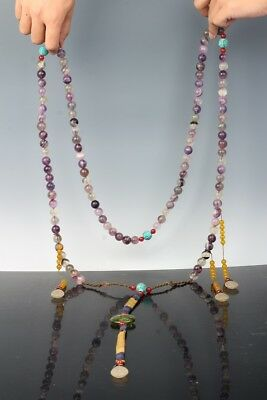 """China Exquisite Hand-carved crystal necklace / """"Chao Zhu"""""""