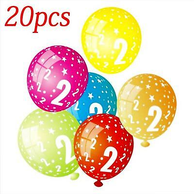 20pcs 12inch 3.2g Number 1-9 Latex Balloons Printing Kids Birthday Party Balloon
