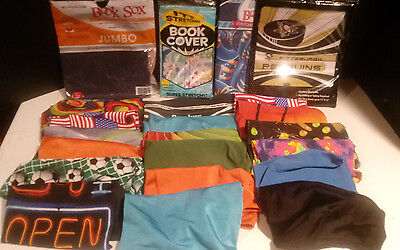 Mixed Lot - Assorted 22 Book Sock Stretchable Fabric Book Covers