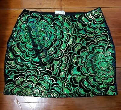 Size 12 H&M Sequin Festival Mini Skirt