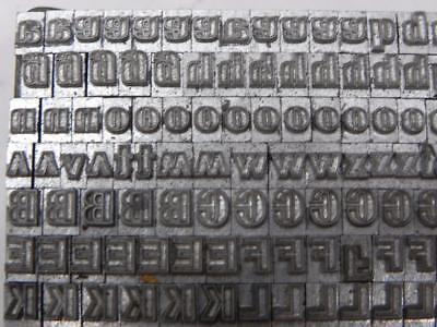 18 Point Outline Gothic Letterpress Type