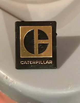 Vintage 'New' Caterpillar CAT OLD Logo Hat/Lapel Pin Scarce Lester Beall Design