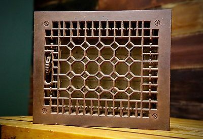Vintage Ornate Victorian Cast Iron Register Heat Vent Floor Grate Home Decor