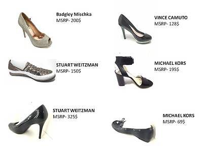 Wholesale Lot 35 Pairs Women's Shoes High End Designers New