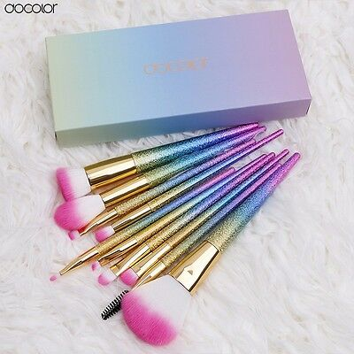 Docolor 10PCS makeup brushes set Fantasy Set Professional high quality Foundatio